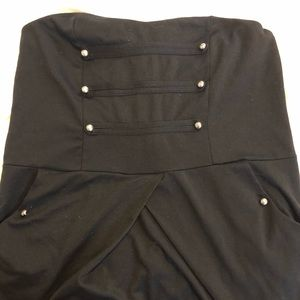 Military style strapless/zipper top Size XL